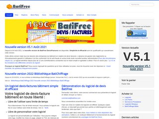 screenshot http://www.batifree.com Batifree : logiciels pour les pros du bâtiment