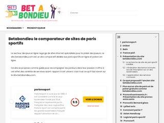 screenshot http://www.betabondieu.com Parionsweb