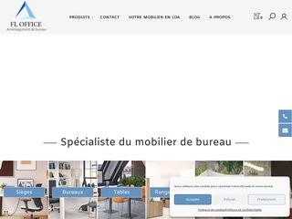 screenshot http://www.bureaumobilier.com Mobilier de bureau