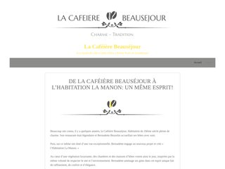 screenshot http://www.cafeierebeausejour.com Musée, table d'hote et gite en guadeloupe