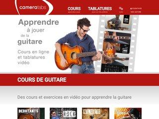 screenshot http://www.cameratabs.com Cameratabs - cours de guitare en tablature video