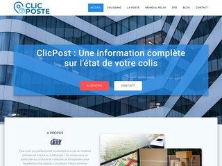 screenshot http://www.clicposte.fr Clicposte