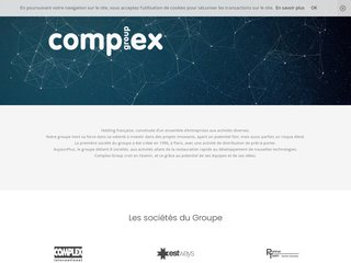 screenshot http://www.complex.fr Complex international: mode française en russie