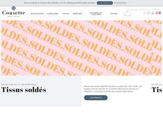 screenshot http://www.cousette.com/ Tissus au mètre, cousette