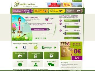 screenshot http://www.credit-on-line.com Credit on-line.com simulation  demande en ligne