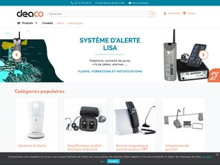 screenshot http://www.deaco.fr Deaco, votre spécialiste réveils