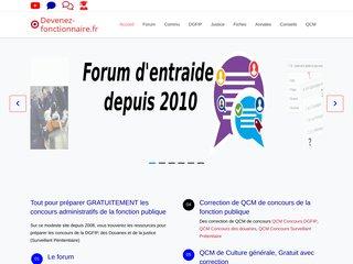 screenshot http://www.devenez-fonctionnaire.fr Devenez fonctionnaire
