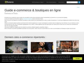 screenshot http://www.e-komerco.fr E-komerco : annuaire de sites marchands