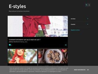 screenshot http://www.e-styles.fr/ Vos sous-vêtements de marque pour fille et garçon.