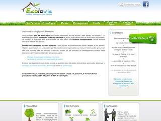 screenshot http://www.ecolovie.org Ecolovie: société d'éco services à domicile