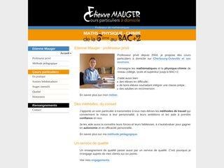 screenshot http://www.emauger.fr Cours particuliers de maths  physique à cherbourg