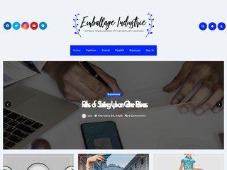 screenshot http://www.emballageindustrie.com Emballage industrie, papier industriel,