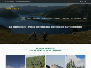 screenshot http://www.evasion-mongolie.com Voyage mongolie
