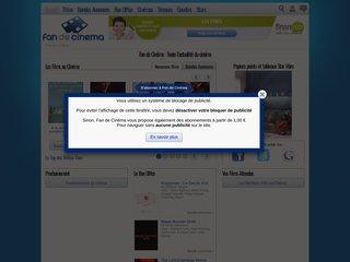 screenshot http://www.fan-de-cinema.com Fan de cinéma