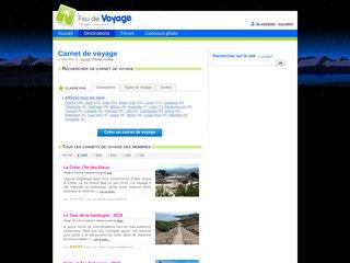 screenshot http://www.fou-de-voyage.com/voyage/ Fou de voyage, partagez vos carnets de voyages
