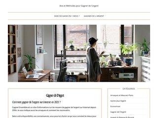 screenshot http://www.gagner-ensemble.com Gagner de l'argent sur internet