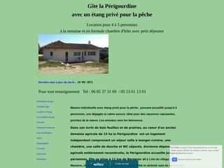 screenshot http://www.gite-dordogne-la-perigourdine.com Périgourdine avec un étang privé pour la pêche