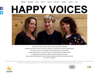 screenshot http://www.happyvoices.fr Gospel, happy voices trio gospel féminin