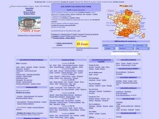 screenshot http://www.holidayshomes.com 5000 locations de vacances dans 40 pays