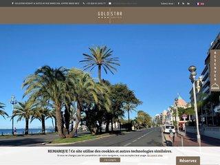screenshot http://www.hotel-goldstar-nice.com/?lang=fr Hôtel 4 étoiles à nice