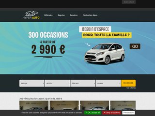 screenshot http://www.hyperauto.fr Hyper auto - annonces d'occasions
