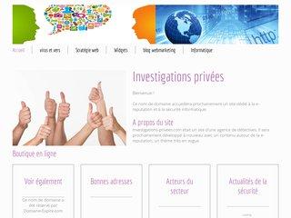 screenshot http://www.investigations-privees.com Détective privé