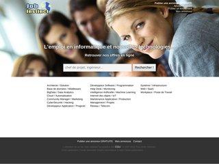 screenshot http://www.jobinstinct.com Jobinstinct: offres d'emploi et cvs