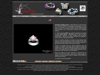 screenshot http://www.kenembijoux.com Kenem bijoux - bijoux artisanaux haut de gamme