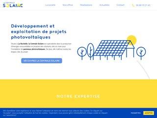 screenshot http://www.lacentralesolaire.fr La centrale solaire