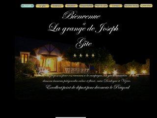 screenshot http://www.lagrangedejoseph.fr Location grand gite en dordogne