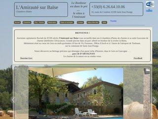 screenshot http://www.lamiraute.fr L'amirauté sur baïse - chambres d'hotes gers