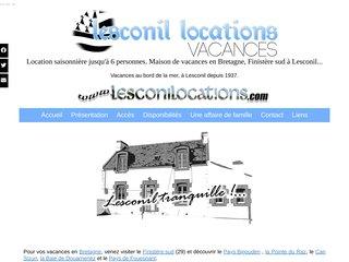 screenshot http://www.lesconilocations.com/ Loue maison de pêcheur lesconil finistère sud