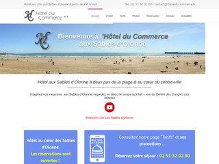 screenshot http://www.lhotelducommerce.fr Hôtel du commerce - les sables d'olonne