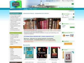 screenshot http://www.librairie-du-littoral.com/ Librairie du littoral