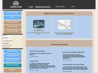 screenshot http://www.lobourse.com Lobourse