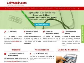 screenshot http://www.loimadelin.com Fiscalité madelin