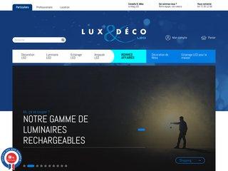 screenshot http://www.luxetdeco.fr Lux et deco