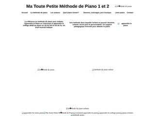 Méthode de piano enfants, apprendre le piano. Ma toute petite methode de piano