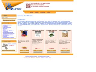 screenshot http://www.mbgraphic.fr Mbgraphic, fournitures arts graphiques