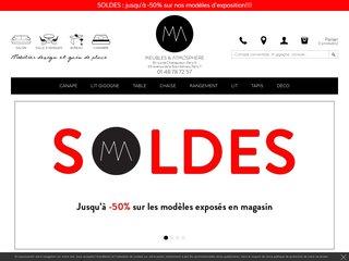 screenshot http://www.meublesetatmosphere.com Meubles et atmosphère - canapé convetible