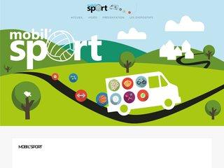 screenshot http://www.mobilsport.fr Mobil sport, centre de remise en forme mobile