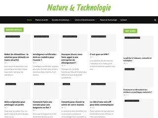 screenshot http://www.nature-technologie.com Nature  technologie - economie d'énergie
