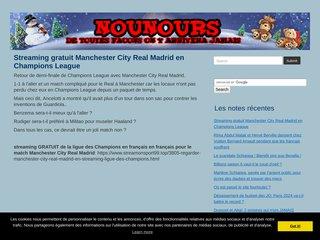 screenshot http://www.newsnours.com Les news des nounours