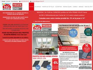 screenshot http://www.ngservices.fr Ng services - spécialistes de la couverture