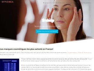 screenshot http://www.officinea.fr Officinea cosmétiques bio d'exception