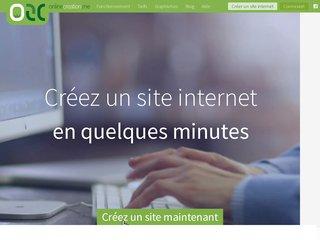screenshot http://www.onlc.fr Créer un site avec onlc.fr