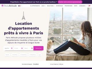 screenshot http://www.parisattitude.com/FR/ Paris attitude : locations appartements