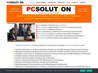 screenshot http://www.pcsolution.fr Assistance depannage maintenance informatique