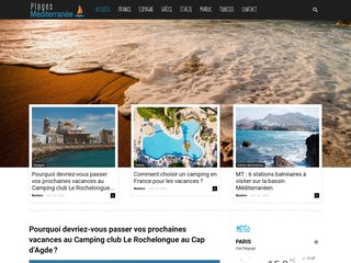 screenshot http://www.plagesmed.fr/ Guide des plages du sud de la france