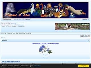 screenshot http://www.plumedeau.com Plume d'eau forum